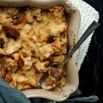 Croissant and Panetone Bread Pudding