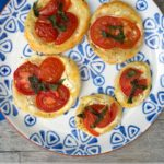 Easy Puff Pastry Circles with Tomato and Sour Cream