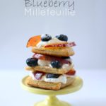 Nectarine and Blueberry Millefeuille