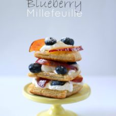 Nectarine Blueberry Millefeuille