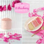 Pink Ombré Cake with Strawberry Mascarpone Frosting on Style Me Pretty Living