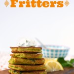 Chickpea, Carrot and Feta Fritters