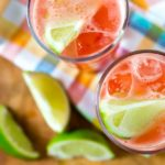 Watermelon and Red Grapefruit Agua Fresca